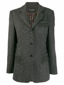 Etro herringbone patch pocket blazer - Grey