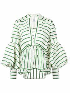 Rosie Assoulin lantern sleeve top - Green