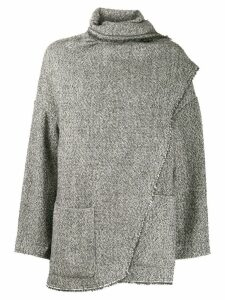 Isabel Marant Étoile draped detail coat - Grey