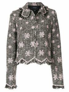 Giambattista Valli floral fringe jacket - Black
