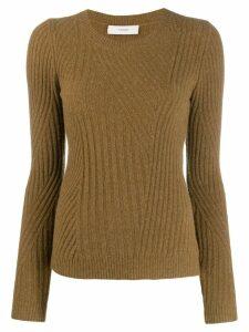 Pringle Of Scotland ribbed travelling sweatshirt - Brown