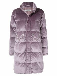 Tu es mon TRÉSOR zipped padded coat - Purple