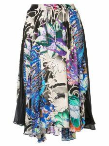 Koché contrast panel skirt - Multicolour