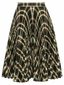 Calvin Klein 205W39nyc high waisted check pleated skirt - 234