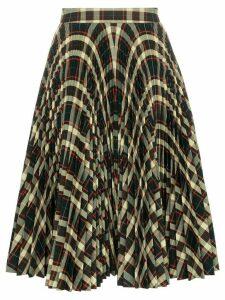 Calvin Klein 205W39nyc high waisted check pleated skirt - 234