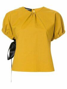 Rochas gathered blouse - Yellow