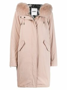 Yves Salomon Army fur-panelled parka - Pink