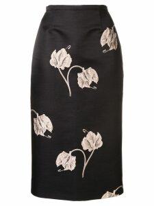 Rochas floral print skirt - Black