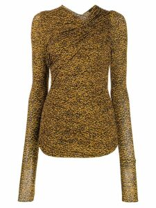 Isabel Marant ruched shoulder top - Yellow