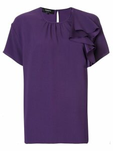 Rochas asymmetric ruffle blouse - Purple