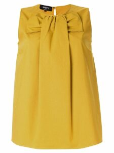 Rochas bow front blouse - Yellow