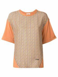 Chloé geometric print T-shirt - Brown