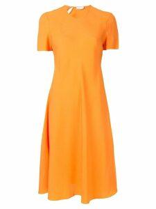 Rosetta Getty flare skirt dress - Orange