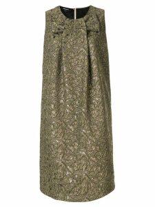 Rochas jacquard print dress - Gold