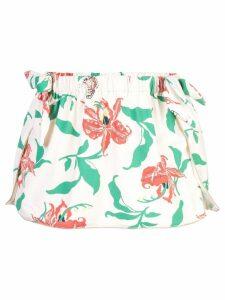 Morgan Lane Carmen floral beach skirt - White