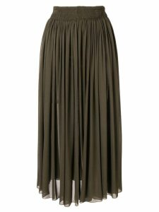 Rochas gathered midi skirt - Green