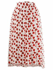 Nº21 candy apple pleated skirt - White
