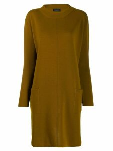 Roberto Collina shift sweater dress - Neutrals