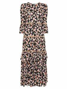 byTiMo floral print midi dress - Multicolour