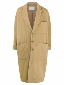 Société Anonyme single breasted midi coat - NEUTRALS