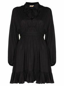 byTiMo pussy-bow mini dress - Black