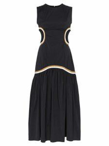 Markoo cut-out detail midi dress - Black