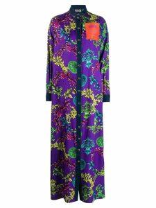 Versace Jeans Couture baroque print shirt dress - Purple