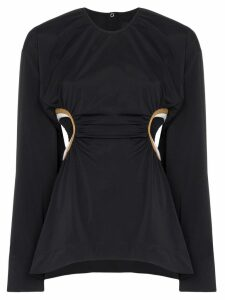Markoo cut out-detail top - Black