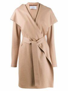 Harris Wharf London wrap coat - NEUTRALS