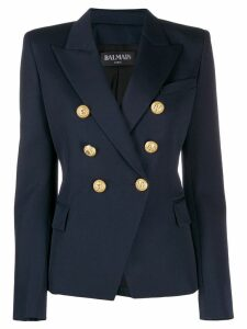 Balmain decorative buttons blazer - Blue