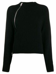 MRZ side zip detail sweater - Black