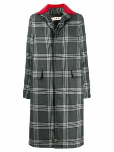 Marni multi-print button-up long coat - Grey