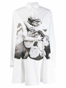 Valentino Lovers shirt dress - White
