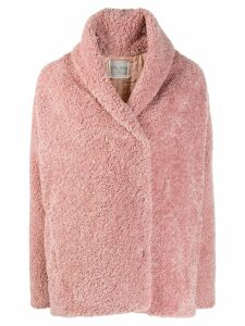 Forte Forte shearling short coat - PINK
