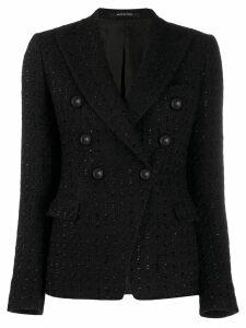 Tagliatore bouclé blazer - Black