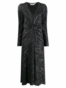Rotate long-sleeve wrap dress - Black