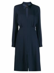 Erika Cavallini crepe shirt dress - Blue