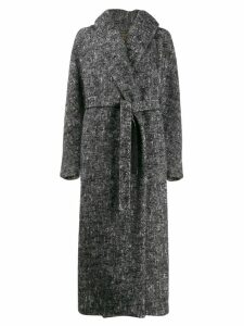Max Mara Atelier long belted coat - Black