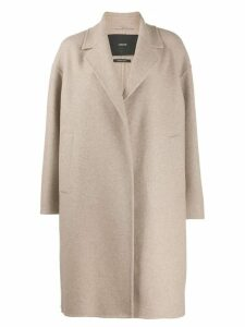 Max Mara Atelier boxy fit coat - Neutrals