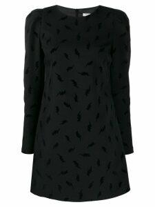 P.A.R.O.S.H. thunderbolt print mini dress - Black