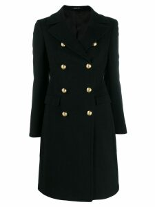 Tagliatore double-breasted coat - Black