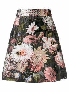 Dolce & Gabbana floral A-line skirt - Black