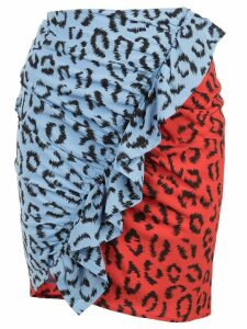 A.L.C. leopard print skirt - Red