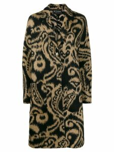 Etro Paisley single-breasted coat - Black