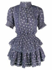 Love Shack Fancy ruffled Alfie mini dress - Blue