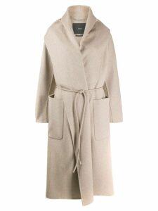 Max Mara Atelier wrap front coat - Neutrals