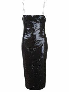 Likely sequin embellished slip dress - Black