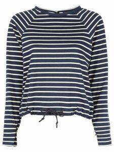 Harvey Faircloth long sleeved striped T-shirt - Blue