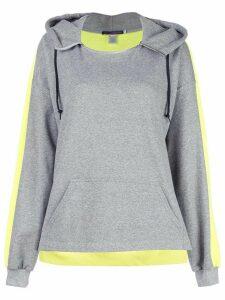 Harvey Faircloth colour block hoodie - Grey
