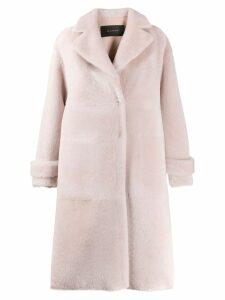 Blancha shearling midi coat - Pink